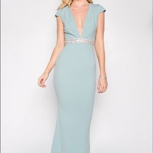 Ricarica Mint colored foral Gown